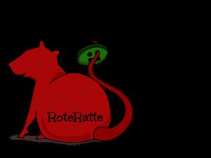 Ratte mit Schatten freigestellt